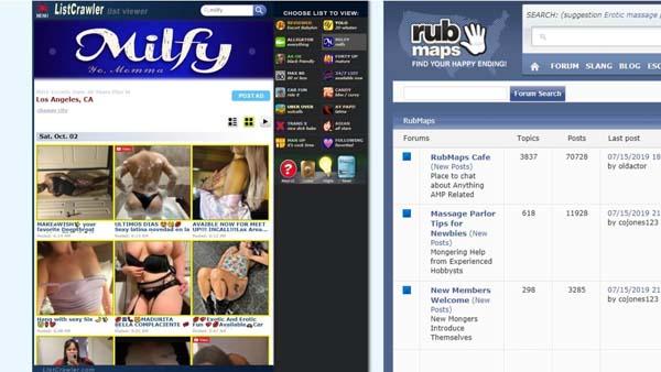 listcrawler or rubmaps hookup sites